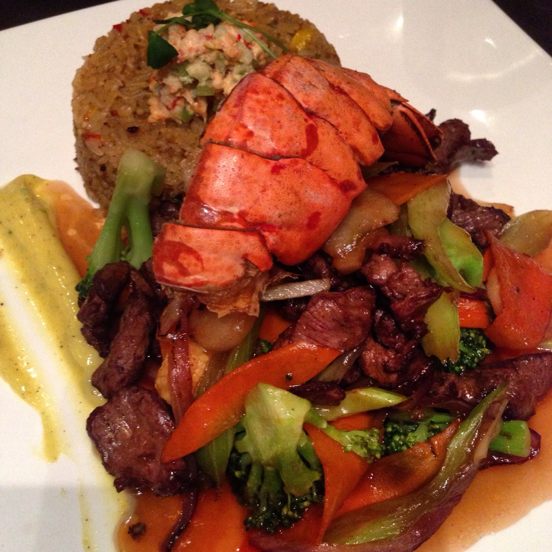 Steak And Lobster Stirfry Delicious Foodie Gives Two Thumbs Up To Lazia In Edmonton An Awesome Fusion Restaurant Steak And Lobster Foodie Eat