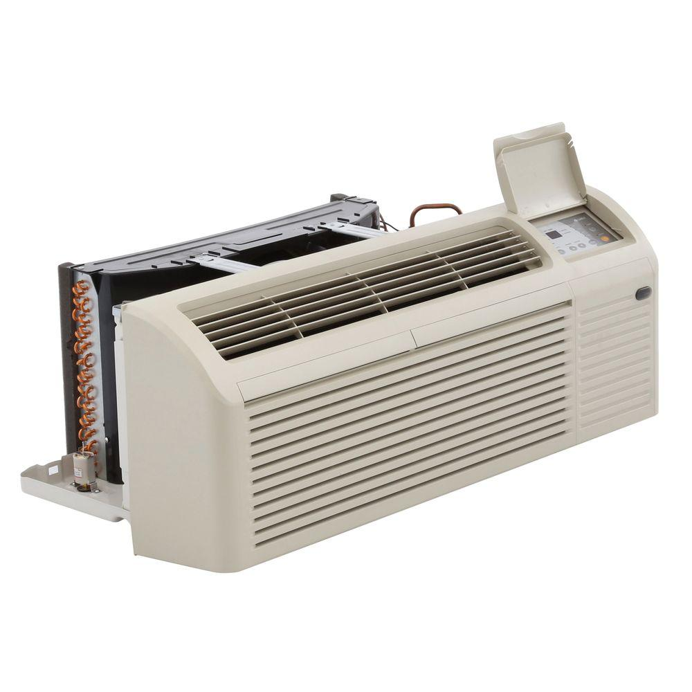 12 000 Btu Packaged Terminal Air Conditioning 1 0 Ton 3 Kw Electrical Heater 10 7 Eer 265v Beige Bisque Heat Pump Air Conditioner Heater Electricity