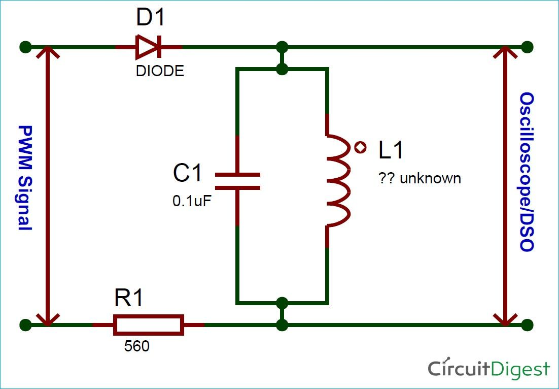 medium resolution of circuit diagram for inductance and capacitance calculator using oscilloscope simple circuit dc circuit circuit