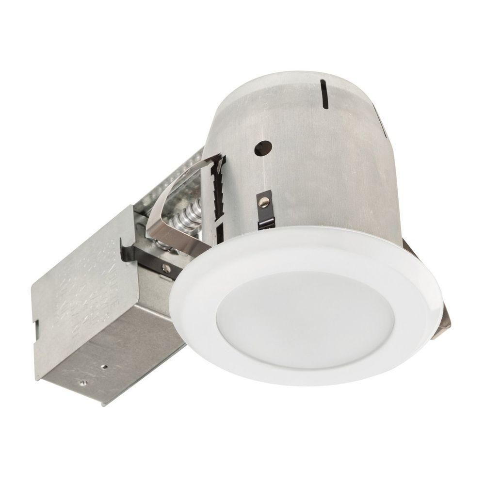 Globe Electric 5 In White Led Ic Rated Shower Lens Recessed