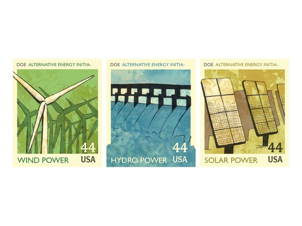 Postage Stamps by Sharon Silverberg, via Behance