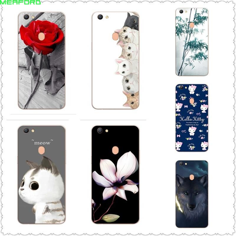 lower price with 25be2 d0822 case For OPPO F5 case cat Cover soft TPU coloful painted Coque For ...