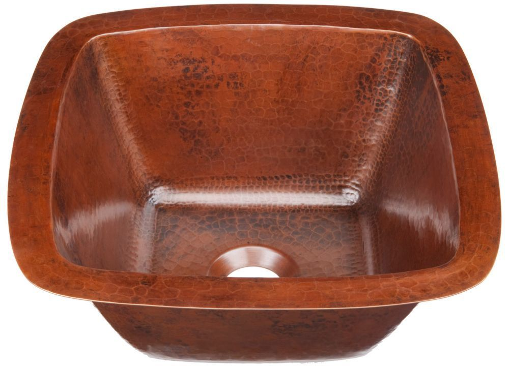 Pollock Undermount Handmade Pure Solid Copper 12 In 0 Hole Bar Prep Copper Sink In Aged Copper Pure Products Decorative Bowls Aged Copper