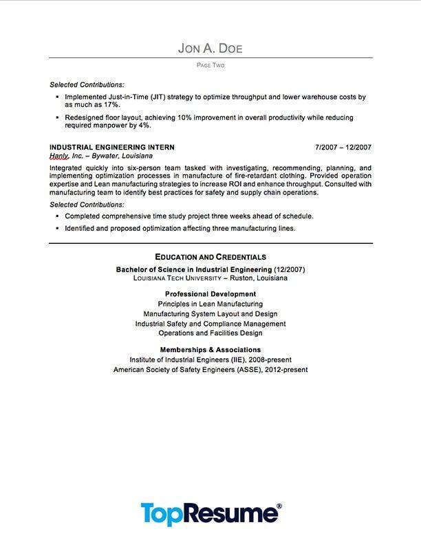 Sample Engineering Resume Resume builder Pinterest Sample