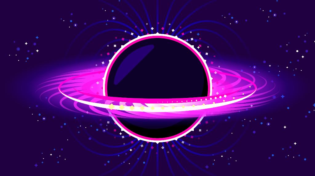 Kurzgesagt Black Hole Wallpaper Desain grafis, Inspirasi