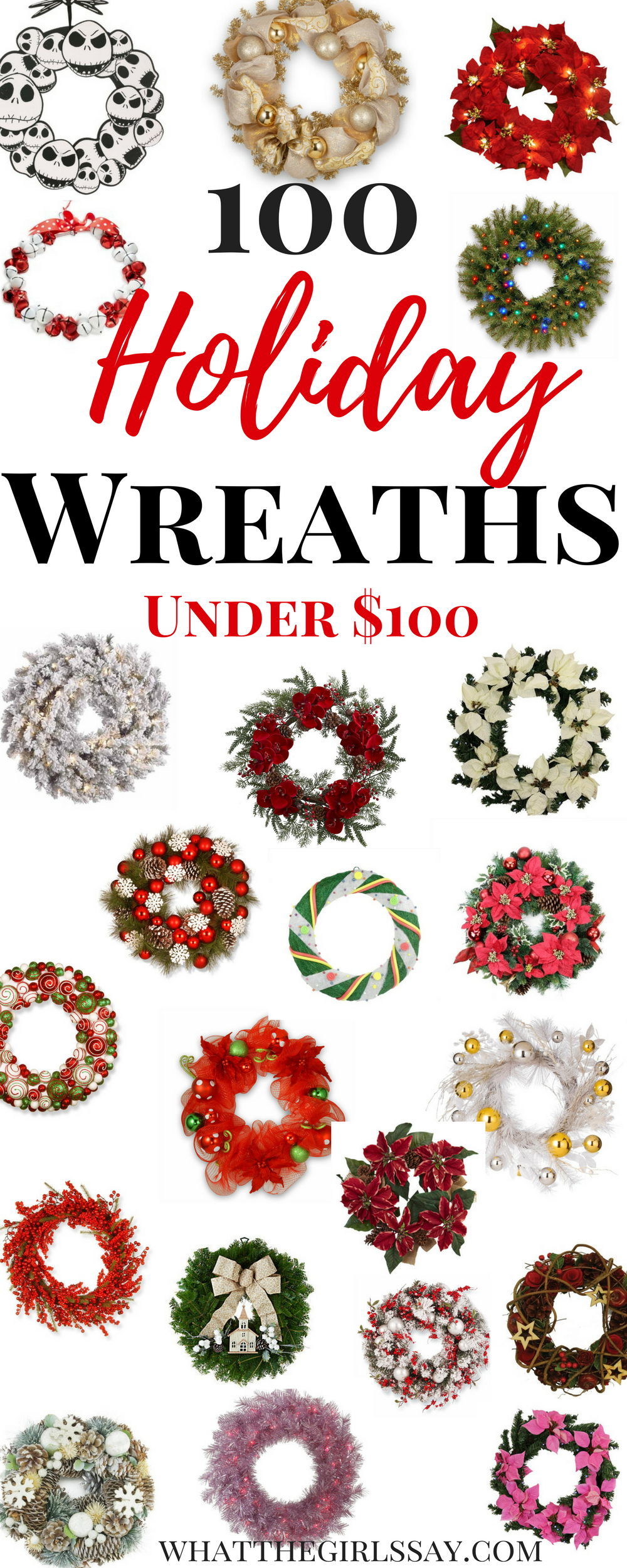 100 Holiday Wreaths Under $100! | Front door wreaths, Holiday ...