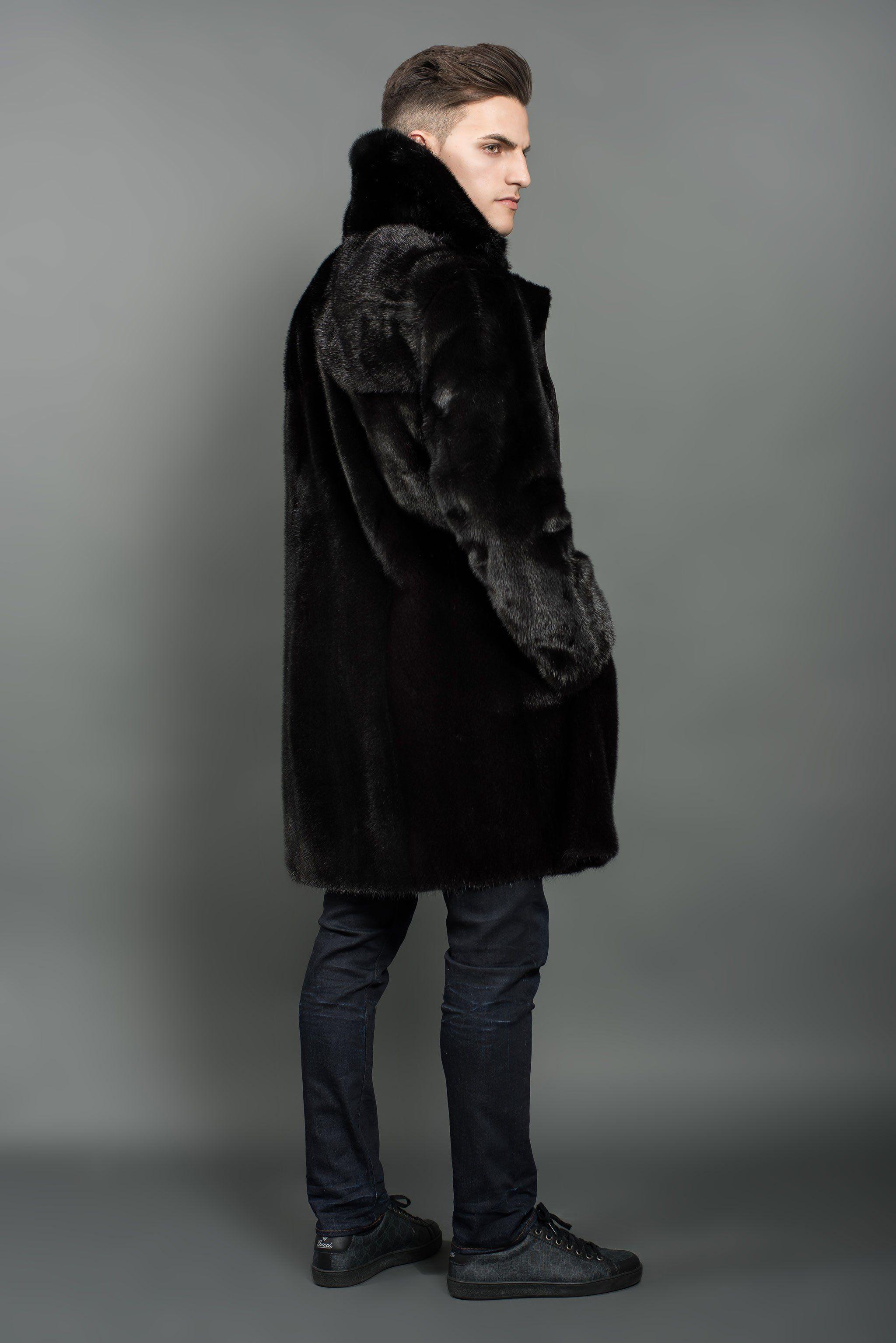 cd15fd271c06 Reversible Black Mink Fur Coat in 2019