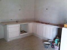 Cucina in muratura in costruzione | Cucina muratura | Pinterest ...