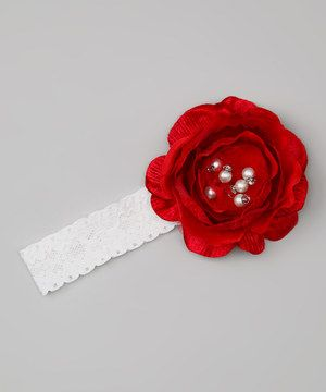 Look what I found on #zulily! Warming the Heart Red Rose Headband by Warming the Heart #zulilyfinds