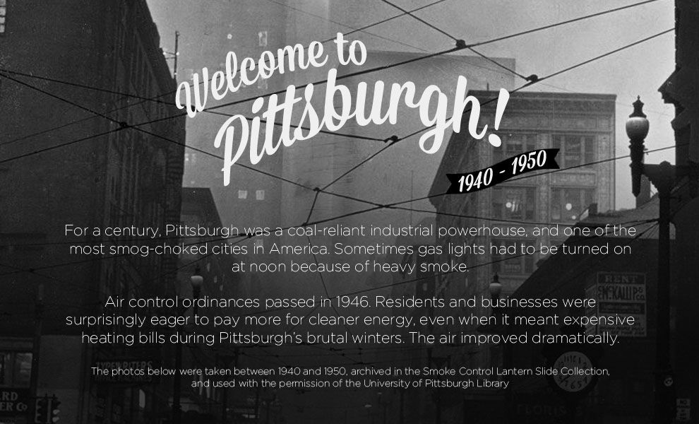 Photos Of Pittsburgh's Air Pollution 1940s Vs. Today