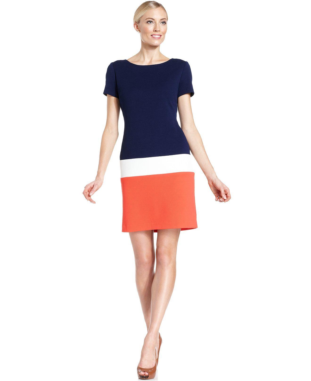 Ronni nicole shortsleeve colorblock dress dresses