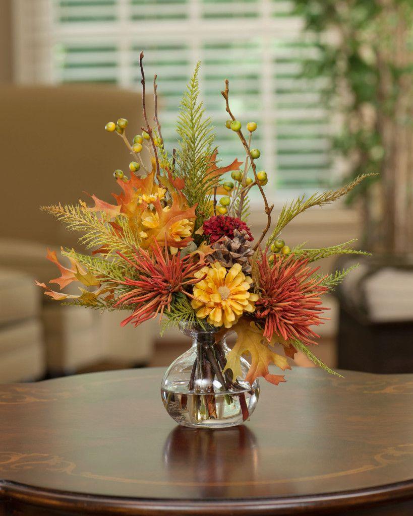 Harvest moon silk flower arrangement blogtals artificial fall decorating ideas for home and office artificial flower mightylinksfo