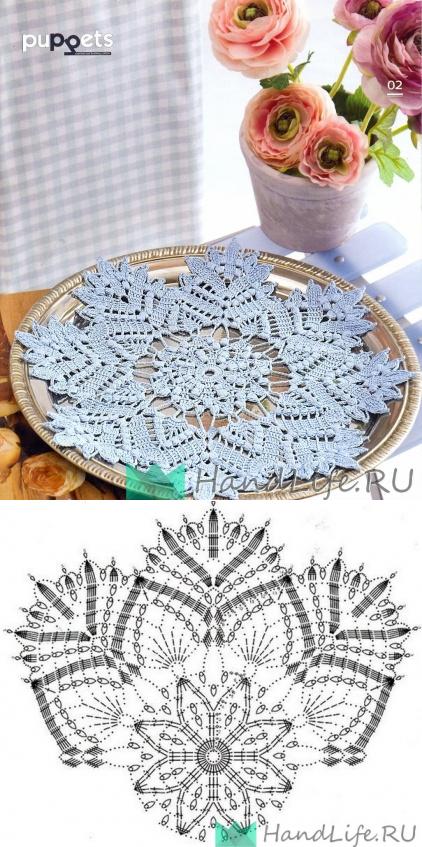 салфетки крючком, спицами | pañitos a crochet | Pinterest | Napperon ...