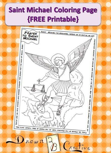 Familia Católica: Página para colorear de San Miguel Arcángel ...