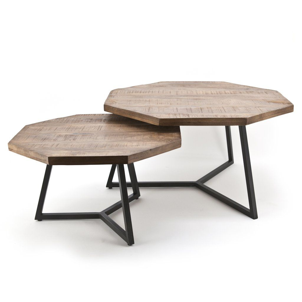 Octagonal Wooden Nested Coffee Table Set By Boo Zig Zag Coffee Table Coffe Table Decor Wood Table Design [ 1024 x 1024 Pixel ]