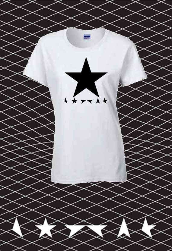 David Bowie Memorial Blackstar Black Star Women T-shirt Ziggy Stardust Guitarist