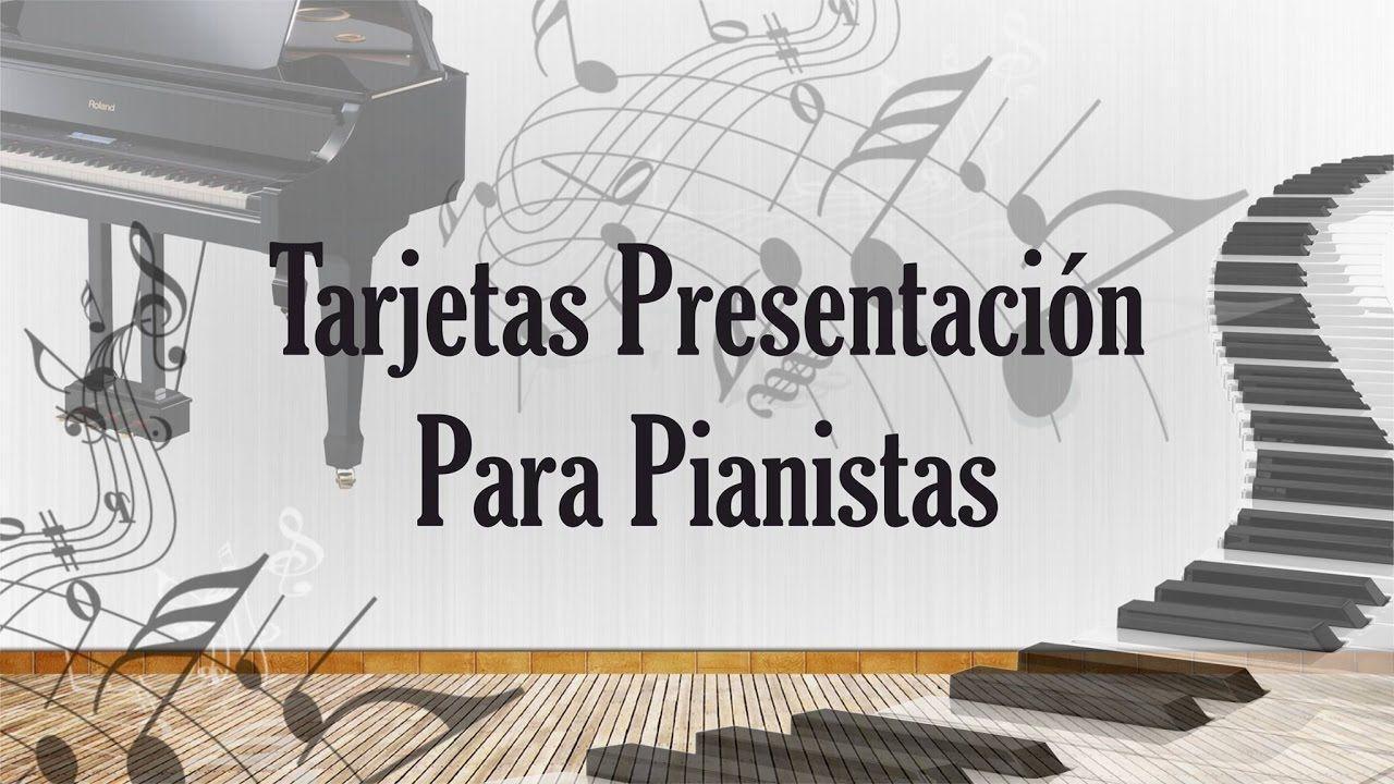 Diseños De Tarjetas De Presentación Para Pianistas Descarga Gratis Edita Tarjetas De Presentacion Diseñador Diseños De Tarjetas Presentaciones