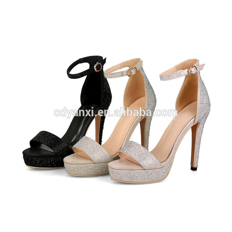 8281416df Fashon Latest Simple Design Ladies Fancy Flat High Heel Sandals ...