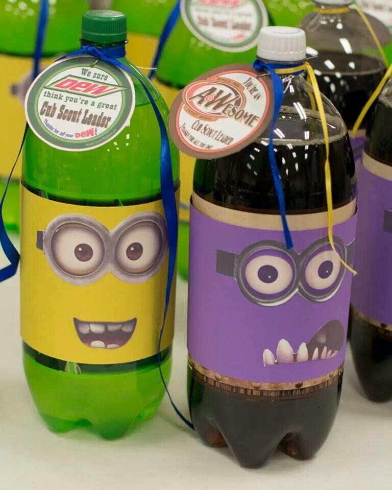 Minion themed soda.