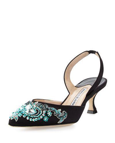 4ca9ac8698 Manolo Blahnik Turquesa Satin Halter Pump | shoes