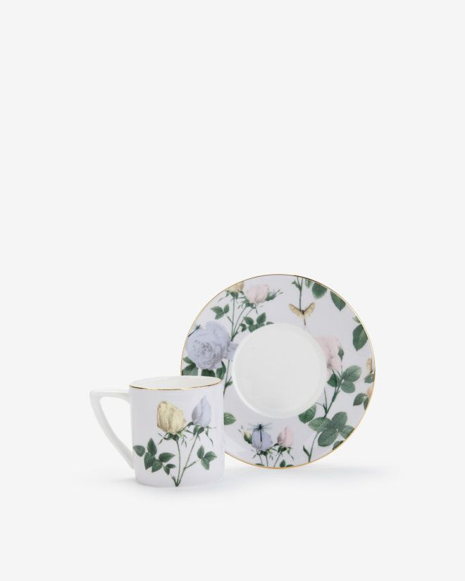 Lilac espresso cup and saucer - Lilac | Gifts for Her | Ted Baker UK