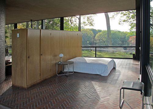 Architecture design · philip johnson residence glass house interior