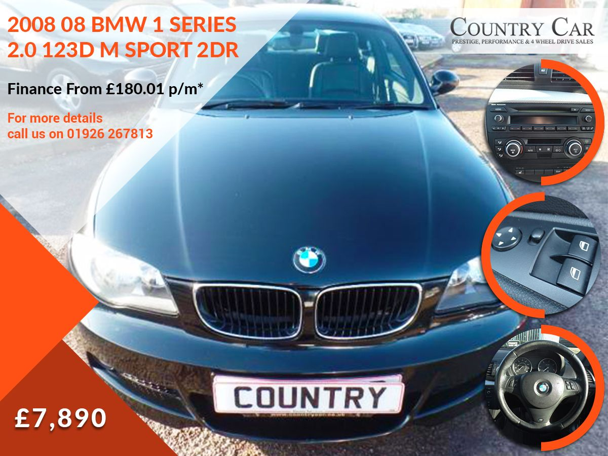 7 890 2008 08 Bmw 1 Series 2 0 123d M Sport 2dr Finance From 180 01 P M Bmw Cars Luxurycars Supercars 1series Bmw Cars For Sale Bmw 1 Series Car