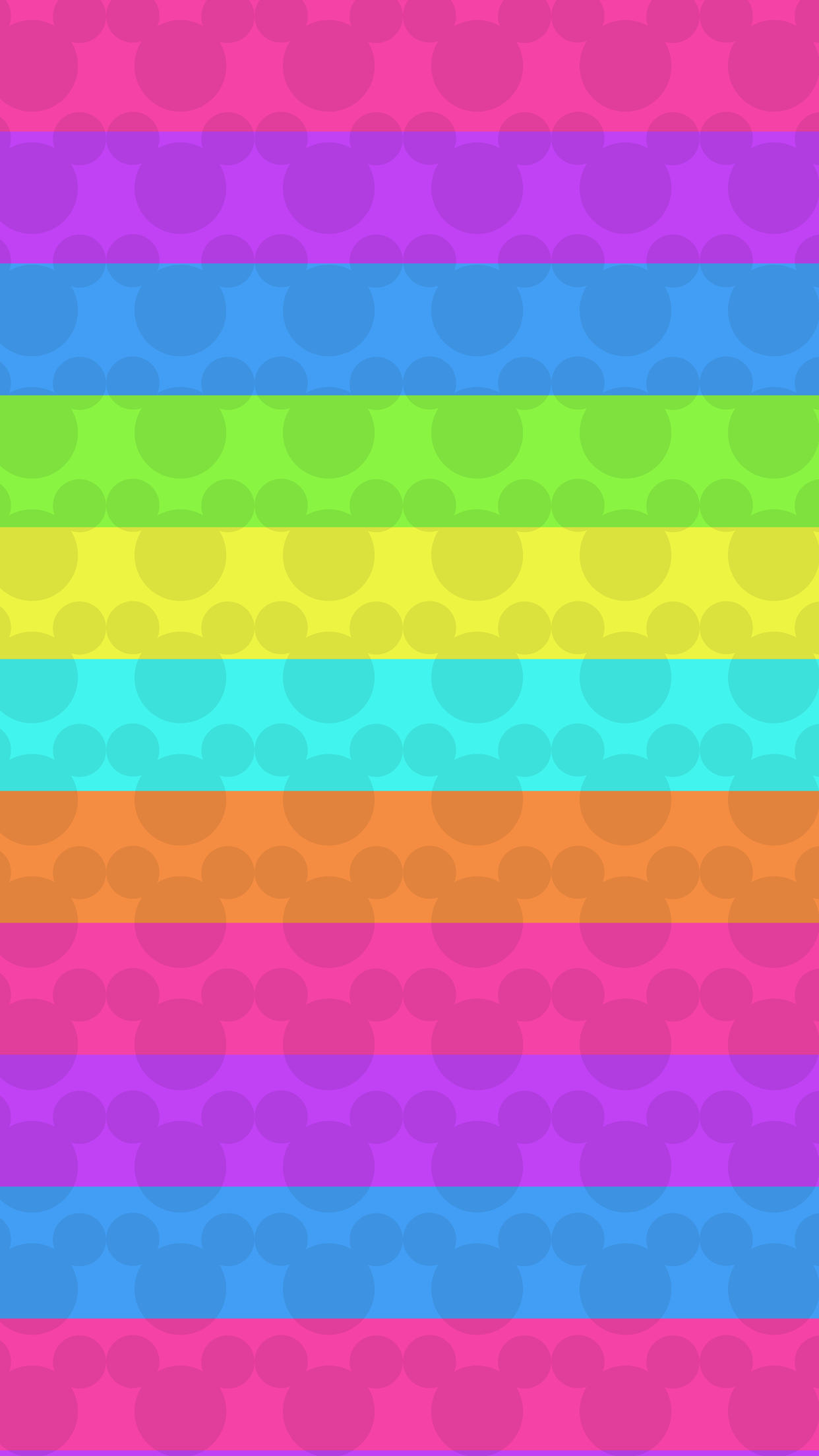 Colorful, Minnie Mouse, rainbow, wallpaper, background