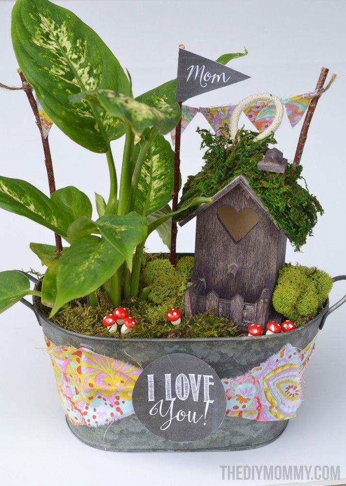 Mini Fairy Garden In A Tin Gift Handmade Mother S Day Gift Ideas