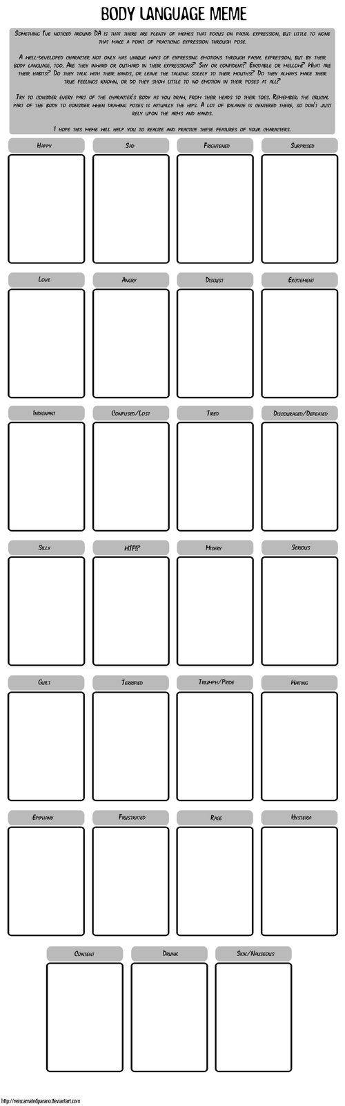 Finished Memes Download For Full Size This Idea Crossed My Mind Recently And I Think It Could Be A Great Help To Those Drawing Meme Art Memes Body Language