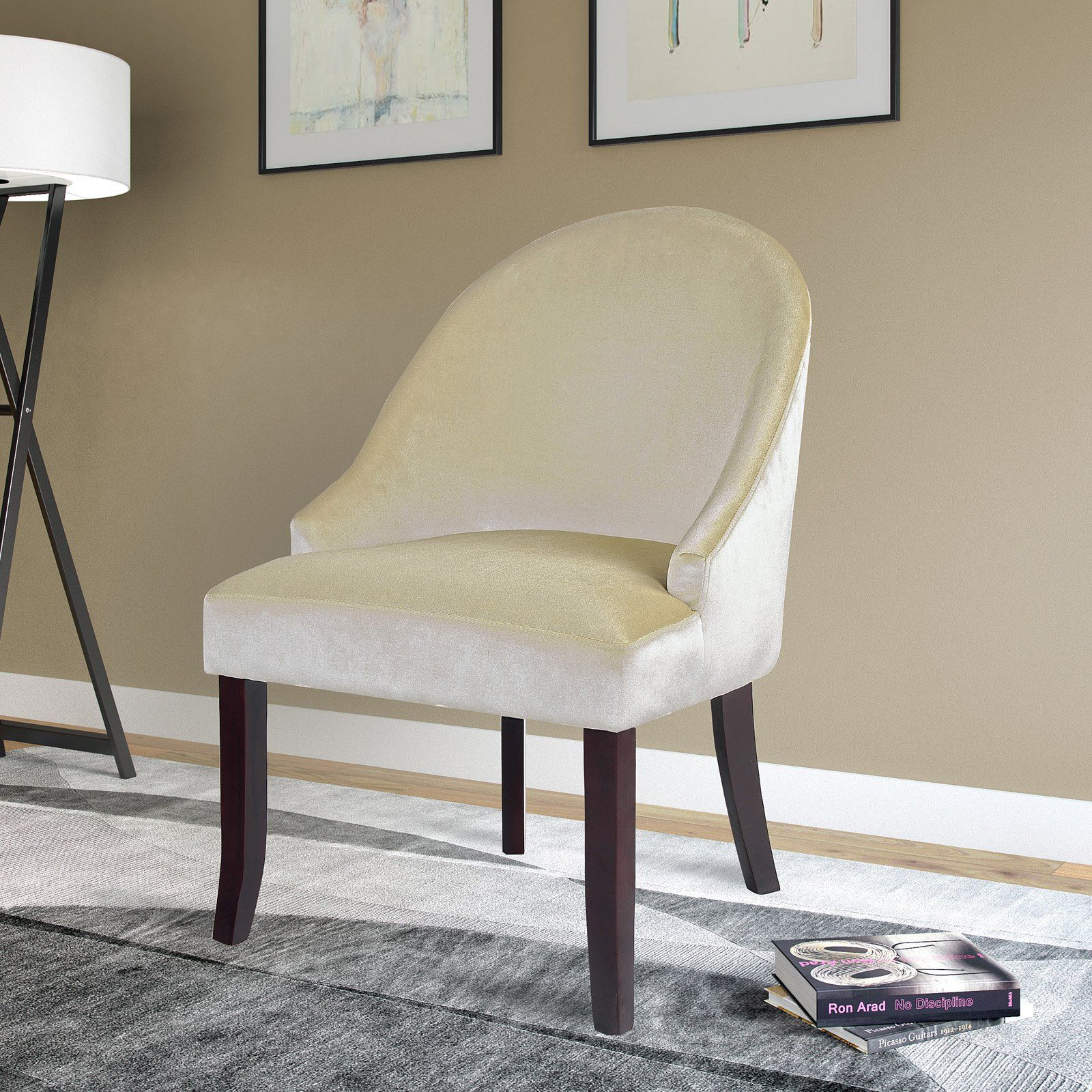 Corliving Antonio Accent Chair Soft Cream Accent Chairs