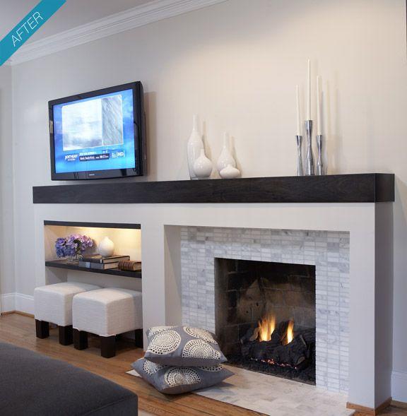 Off Center Fireplace
