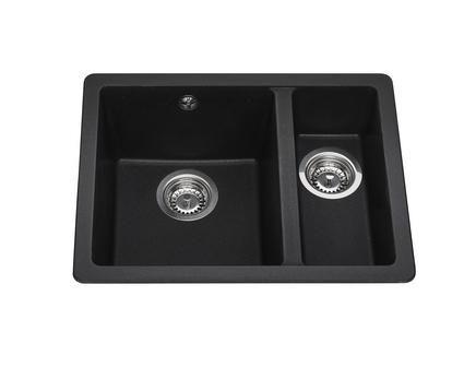 Lamona Black granite composite inset/undermount 1.5 bowl sink ...