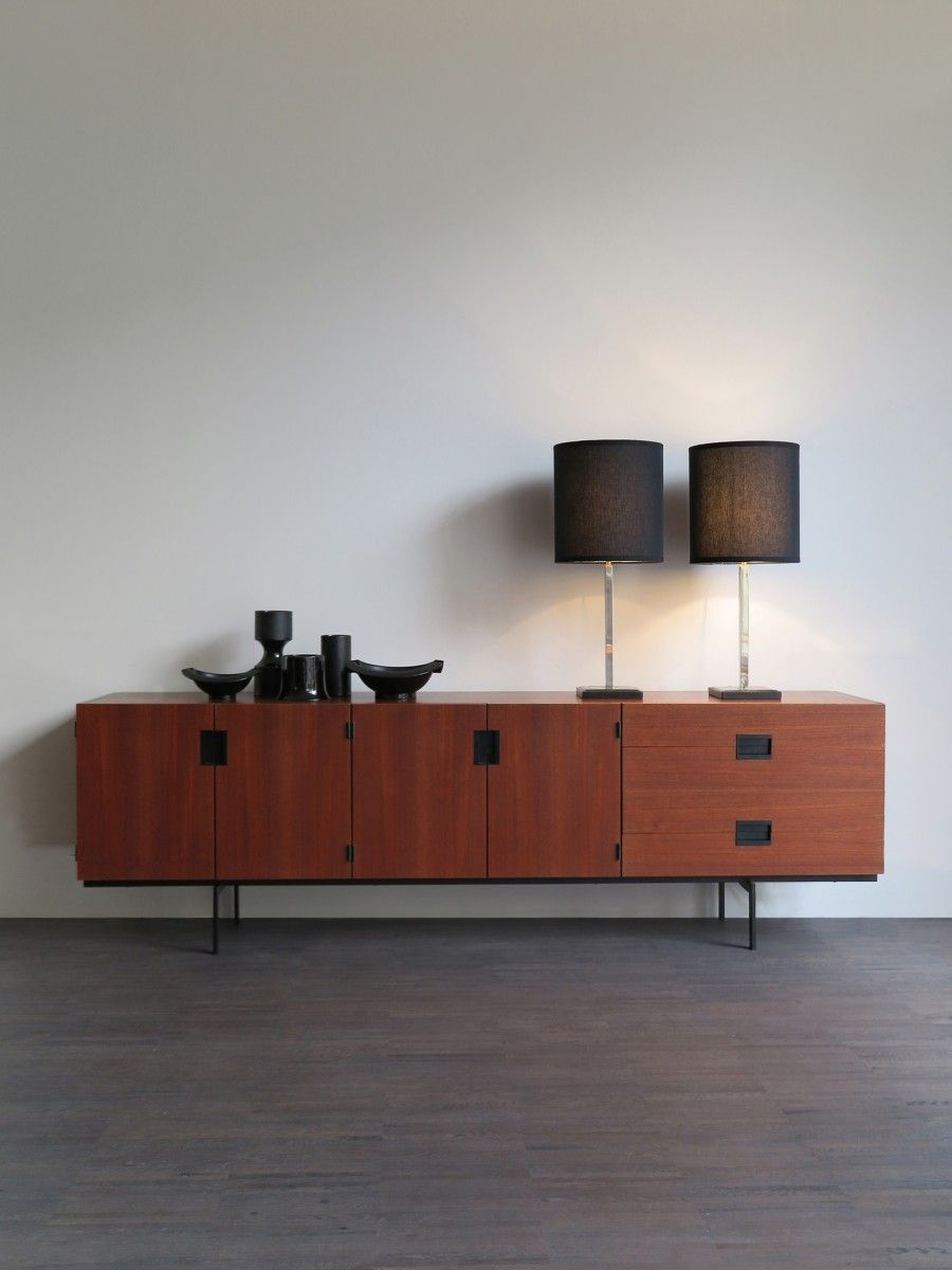 minimalist teak sideboard from the japanese series designed by, Wohnzimmer dekoo