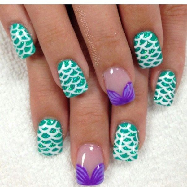 39 Mermaid Nails To Fall In Love With Mermaid Nails