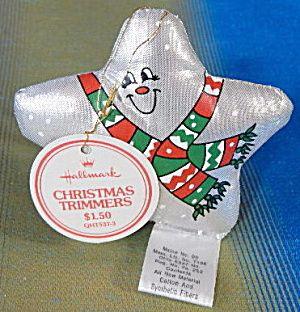 Hallmark 1982 Metallic Cloth Star Ornament  Vintage Christmas
