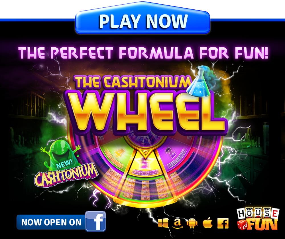 Cashtonium is here! Cash in on the Cashtonium Wheel Fun