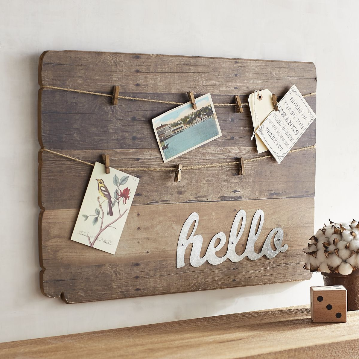 Hello Wooden Plank Photo Clip Wall Frame Pier 1 Imports Wooden