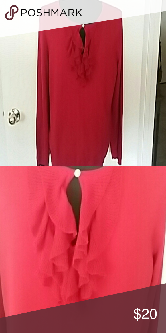 Pretty Red Sweater. Free makeup bag with purchase Sweater has ...