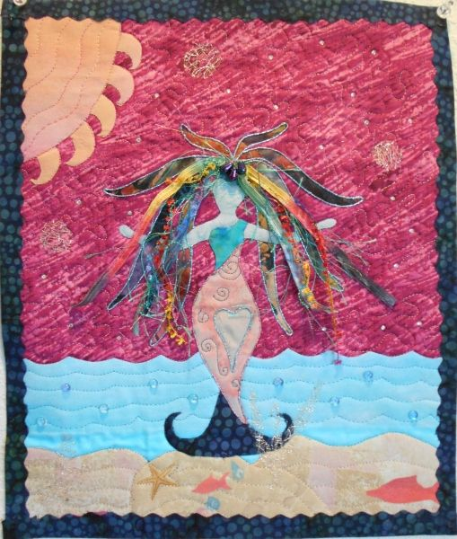 Mermaid Goddess_Quilt (lots of beautiful and interesting quilts on her page)