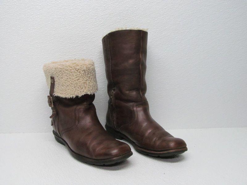 Ugg Australia Brown Suede Sheepskin Uptown Boots Casual 5190 Women's Size 9