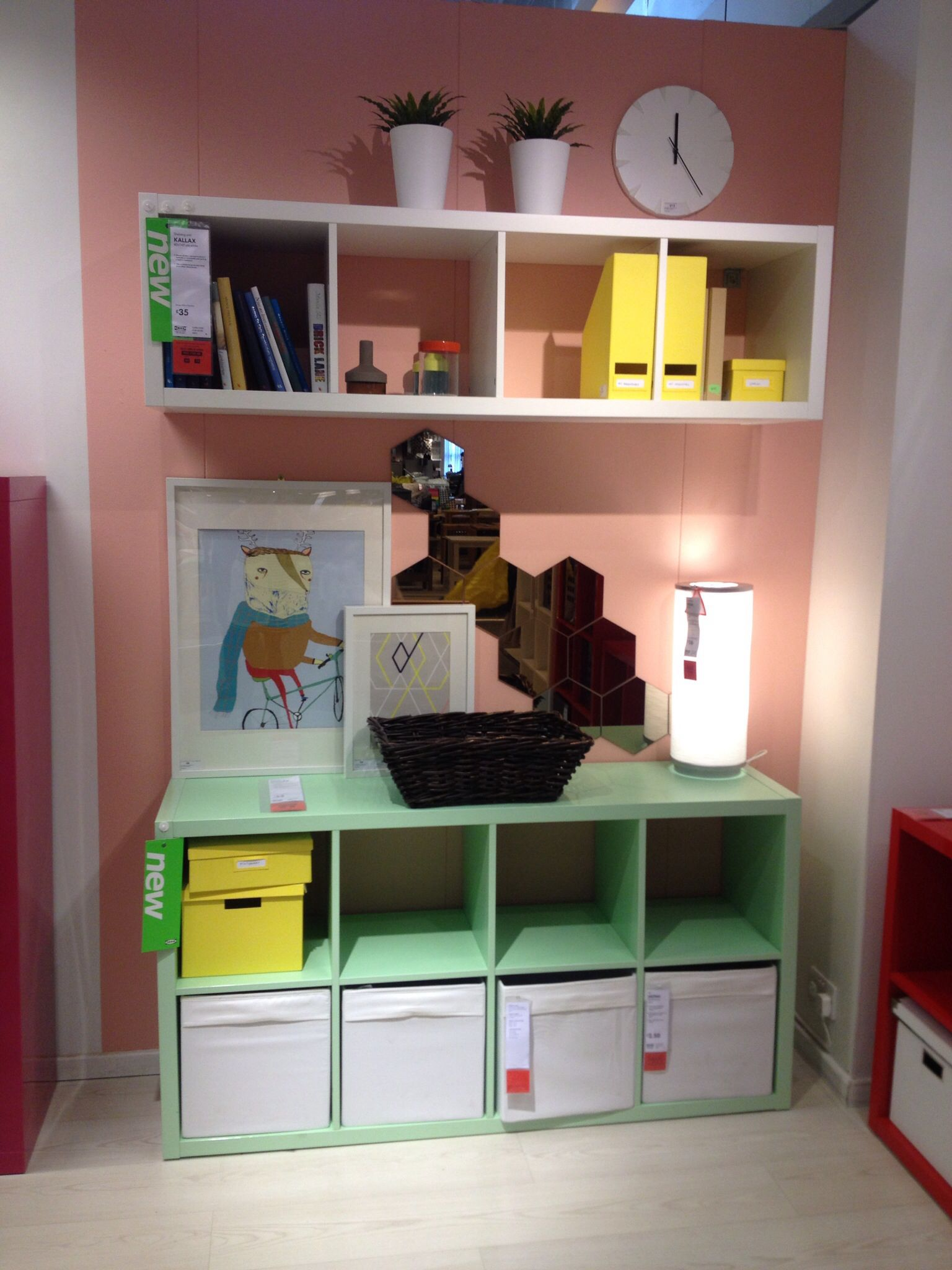 Ikea storage system for playroom