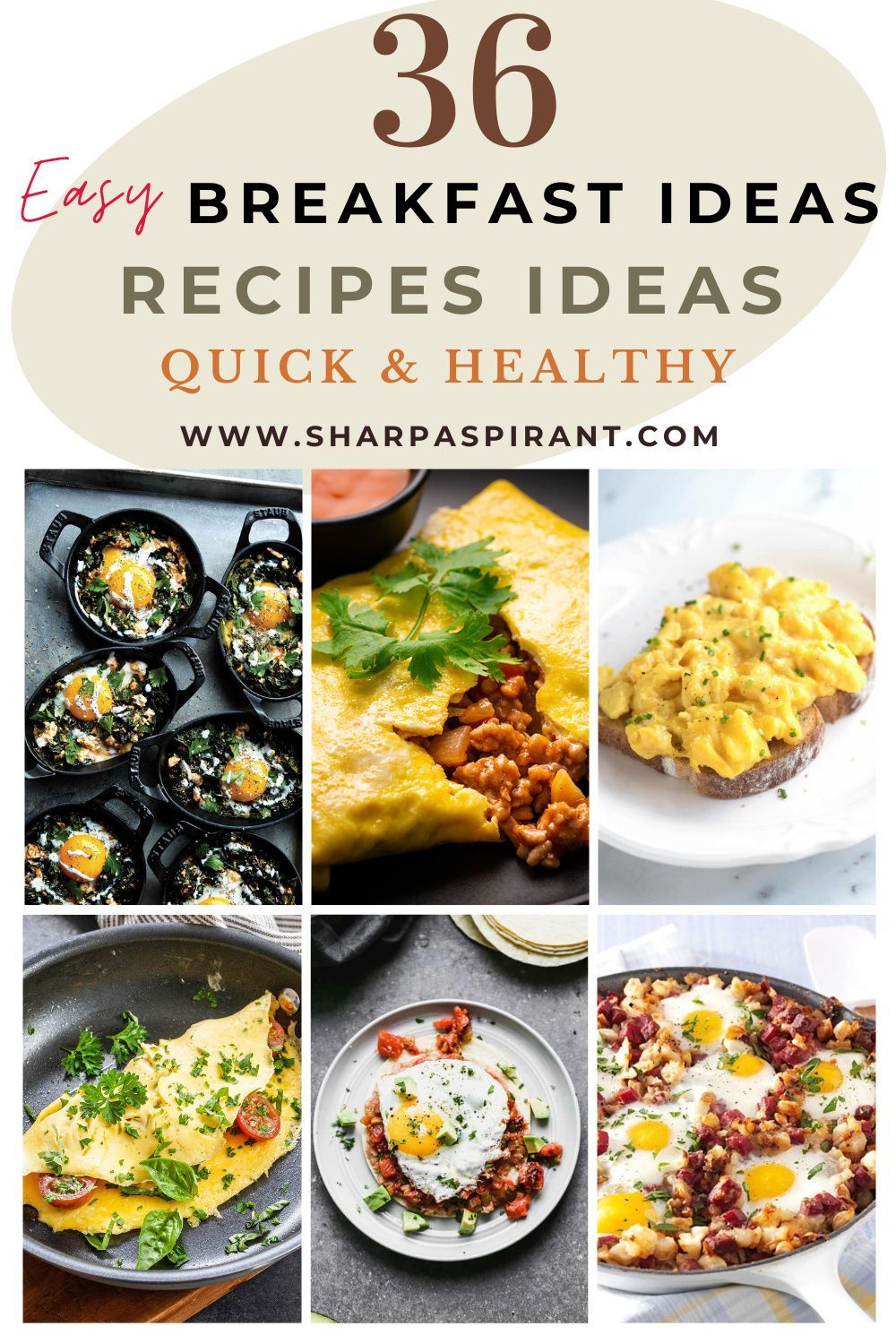 36 Easy Breakfast Ideas Quick And Healthy Breakfast Recipes The Cheerful Spirit Recipe In 2021 Healthy Breakfast Recipes Healthy Breakfast Breakfast Ideas Healthy Clean Eating
