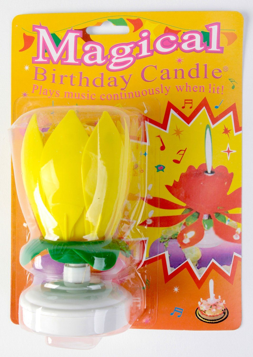 Amazon The Amazing Happy Birthday Candlecolors Vary Flower