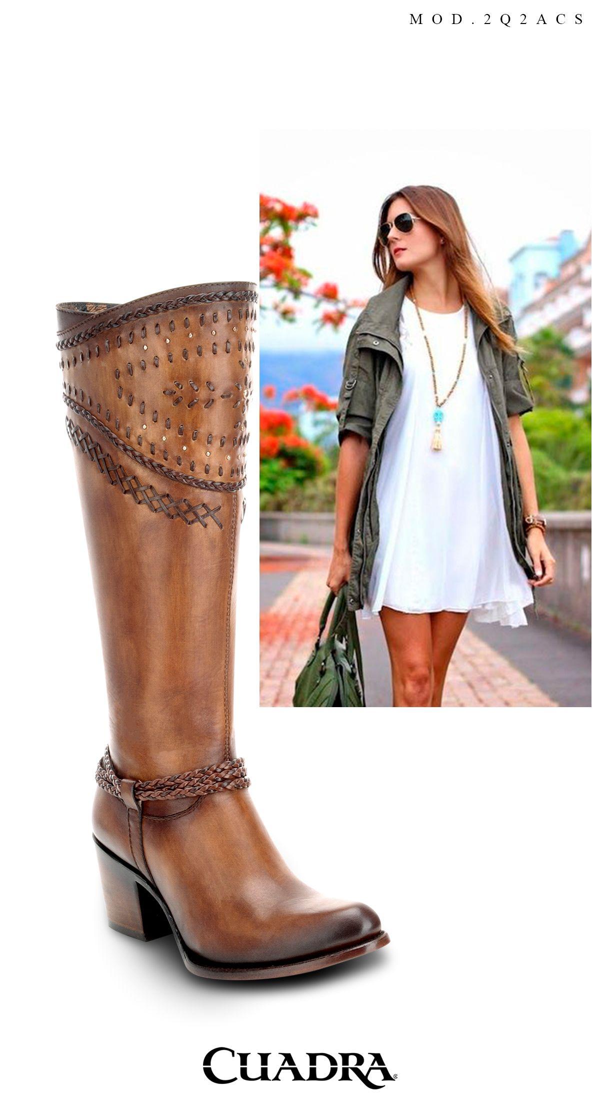 7390df4d284 Esta primavera combínala con vestidos cortos. #moda #boots #fashion #women  Botas