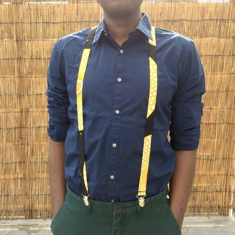 8c93d3906fe7bf Illuminez votre tenue avec ces bretelles colorées pour hommes - ou femmes -  en pagne africain