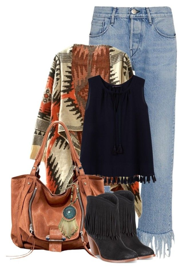 """""""Aztec Boho"""" by seahag2903 ❤ liked on Polyvore featuring 3x1, WithChic, Violeta by Mango and Frye"""