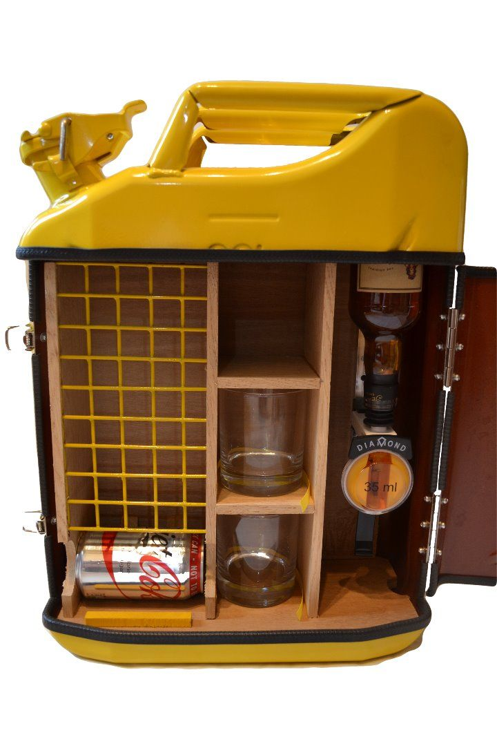 Jerry Can Bar in Yellow   Man Cave   Pinterest   Bar, Men cave and ...