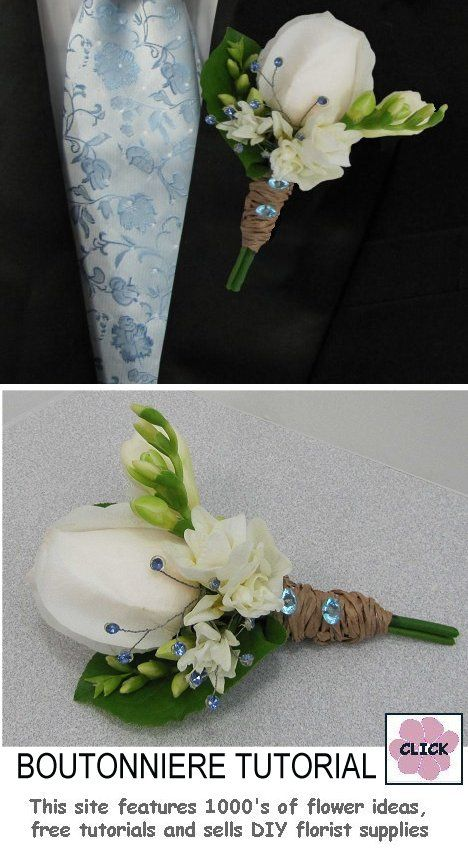 How To Make A Freesia Boutonniere Free Flower Tutorial Professional Florist Supplies And Design Like Pro