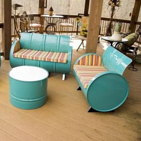 recycled oil barrels outdoor furniture - Recycled Oil Barrels Outdoor Furniture Recycling Projects On Home